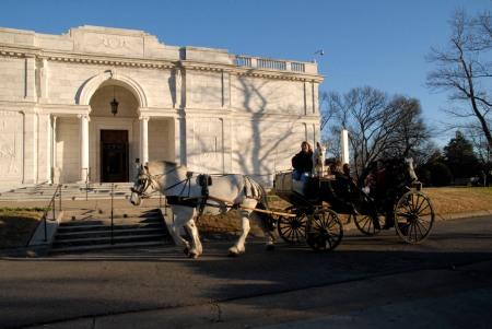 Carriage ride through Overton Park