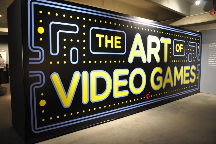 The entrance to the Art of Video Games exhibition at the Brooks Museum. (Source: Memphis Brooks Museum of Art)